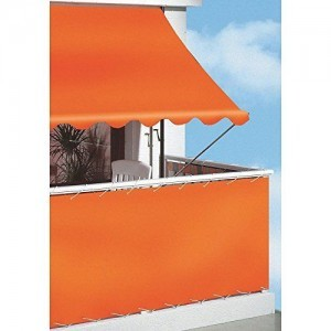 Angerer-Klemmmarkise-PE-Gewebe-Uni-Orange-150-cm-0