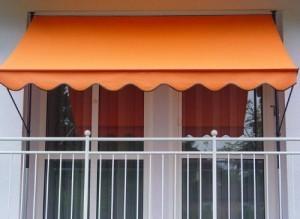 Angerer-Klemmmarkise-PE-Gewebe-Uni-Orange-250-cm-0