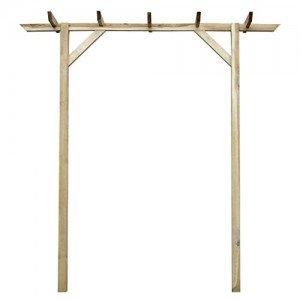 Anself-Gartenpergola-Anlehn-Pergola-aus-Holz-mit-drei-Pfhlen-200-x-40-x-205cm-0-0