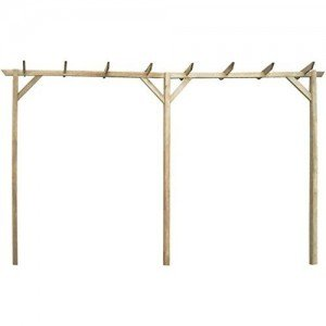 Anself-Gartenpergola-Anlehn-Pergola-aus-Holz-mit-drei-Pfhlen-400-x-40-x-205-cm-0-0