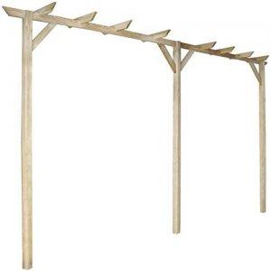 Anself-Gartenpergola-Anlehn-Pergola-aus-Holz-mit-drei-Pfhlen-400-x-40-x-205-cm-0