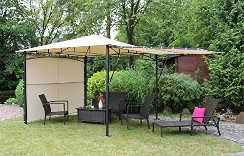 Dreams4Home-Pavillon-Capua-IV-Terrassenberdachung-Pergola-Terrassendach-Sonnendach-berdachung-BHT-ca-300-x-273-x-300-cm-Garten-in-natur-0-0