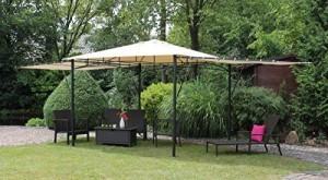 Dreams4Home-Pavillon-Capua-IV-Terrassenberdachung-Pergola-Terrassendach-Sonnendach-berdachung-BHT-ca-300-x-273-x-300-cm-Garten-in-natur-0-1