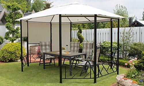 Dreams4Home-Pavillon-Capua-VI-Terrassenberdachung-Pergola-Terrassendach-Sonnendach-berdachung-BHT-ca-375-x-270-x-300-cm-Garten-in-lichtgrau-0-0