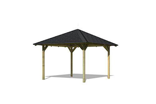 Karibu-4-Eck-Pavillon-Eco-Cordoba-Sparset-inkl-Schindeln-0-0