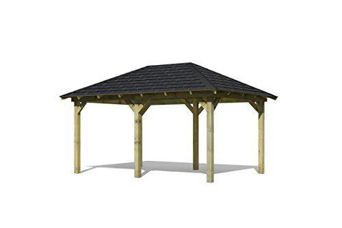 Karibu-4-Eck-Pavillon-Eco-Merida-Sparset-inkl-Schindeln-0-0