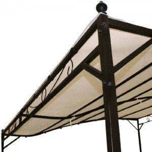 Miadomodo-Garten-Pavillon-in-Beige-Partyzelt-aus-Stahl-in-der-Gre-3-x-25-m-wasserabweisend-mit-Klettbndern-0-2
