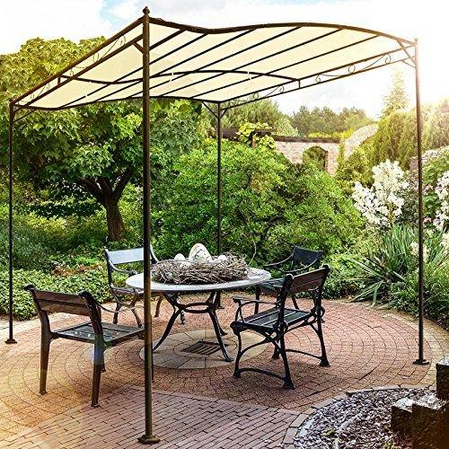 Miadomodo-Garten-Pavillon-in-Beige-Partyzelt-aus-Stahl-in-der-Gre-3-x-25-m-wasserabweisend-mit-Klettbndern-0