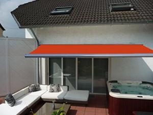 Prime-Tech-Elektrische-Kassettenmarkise-Gelenkarm-Markise-450-x-300-cm-Gehuse-anthrazit-grau-Tuch-orange-rot-580-0