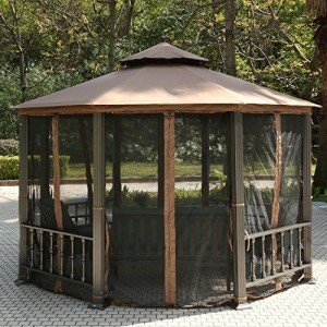 Teamyy-Aluminium-Garten-Pavillon-Gazebo-berdachung-Pavillion-Partyzelt-Terrasse-Mbel-0-2