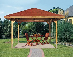 Weka-Pavillon-Enjoy-1-Gr-3-Sparset-inkl-Dachschindeln-und-H-Pfostenanker-0