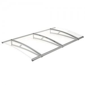 Zelsius-Vordach-fr-Haustr-Terrasse-und-Garten-transparente-PC-Dachplatten-mit-Aluminium-Gestell-in-verschiedenen-Gren-0