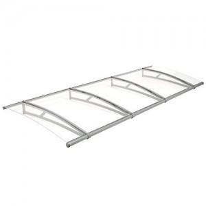 Zelsius-Vordach-fr-Haustr-Terrasse-und-Garten-transparente-PC-Dachplatten-mit-Aluminium-Gestell-in-verschiedenen-Gren-B-270-x-T-95-cm-0