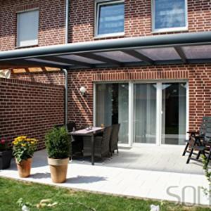 solidPREMIUM 400×300 cm BxT ALU Terrassenüberdachung ANTHRAZIT + ...