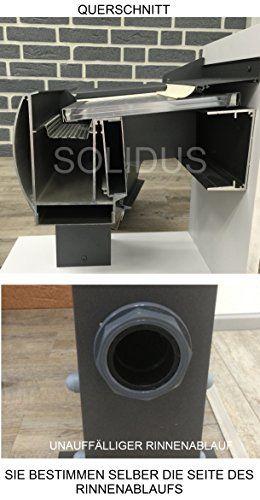 Solidpremium 400x300 Cm Bxt Alu Terrassenuberdachung Anthrazit 16mm 3 Fach Stegplatten Zubehor Uberdachung Terrassendach Aluminium Vordach